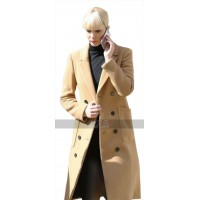 Jennifer Lawrence Red Sparrow Brown Wool Trench Coat