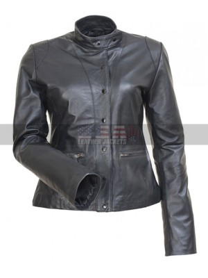 The Mentalist Teresa Lisbon Black Leather Jacket