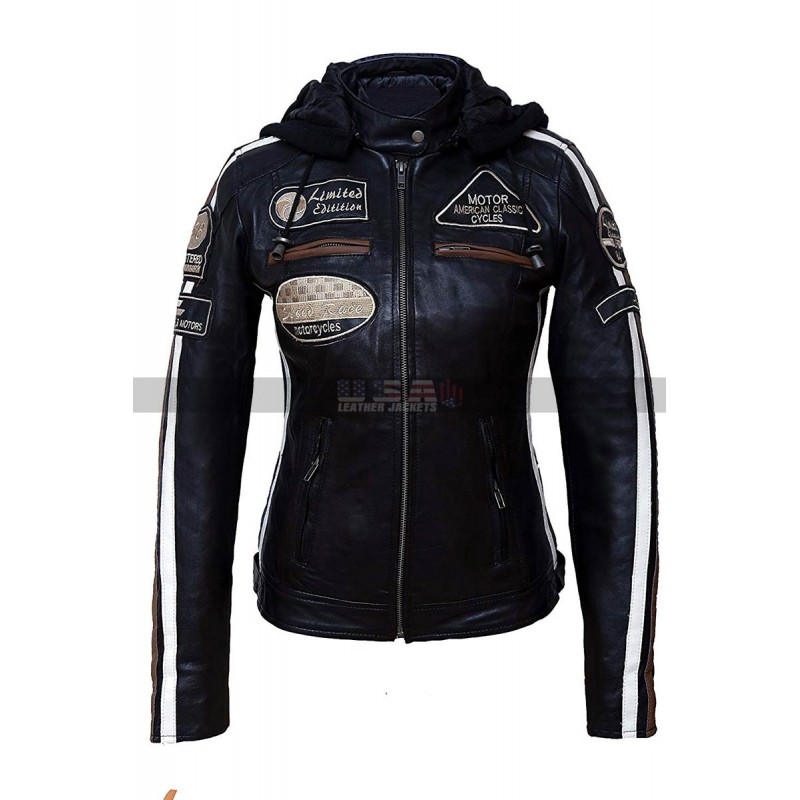 Women's Speed Race Classic Motorcycle Leather Jacket