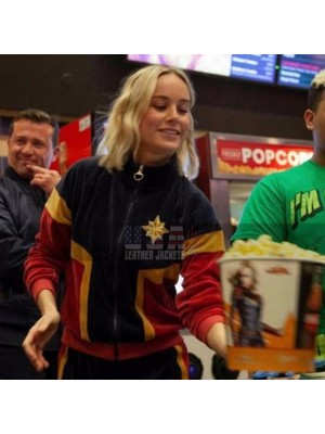 Carol Danvers Captain Marvel Brie Larson Fleece Costume Jacket