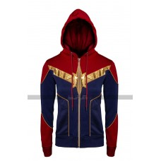 Captain Marvel Carol Danvers Brie Costume Hoodie Cotton Jacket