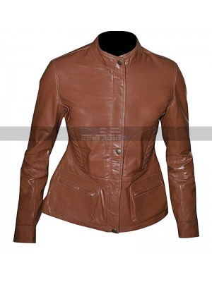 TV Series Law & Order Costume Olivia Benson Brown Leather Jacket
