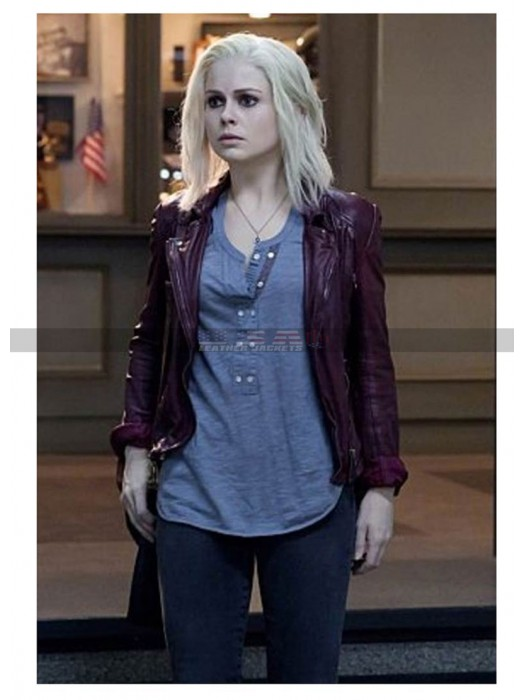 Izombie Season 3 Rose McIver Maroon Leather Jacket
