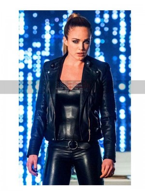 Legends of Tomorrow Sara Lance Black Leather Jacket