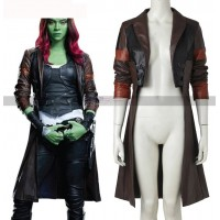 Guardians of Galaxy 2 Costume Gamora Leather Jacket