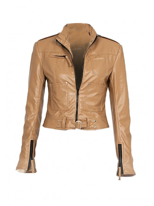 Emma Swan Once Upon a Time Costume beige Leather Jacket