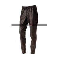 Women Jogger Black Leather Pants