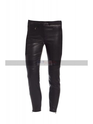 High Waisted Leggings Women Stretch Black Biker Leather Pants