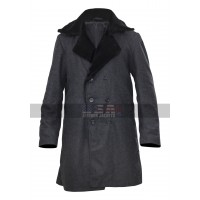 Fargo Billy Bob Thornton Black Fur Collar Wool Coat