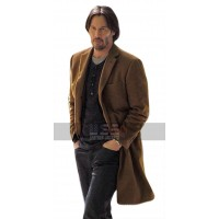 Siberia (Lucas Hill) Keanu Reeves Brown Wool Trench Coat
