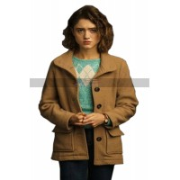 Stranger Things S3 Nancy Wheeler Brown Wool Jacket