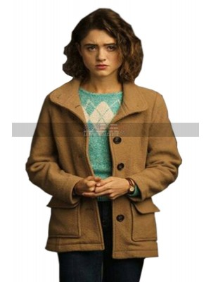 Stranger Things S3 Nancy Wheeler Brown Wool Jacket | Usa Leather Jackets