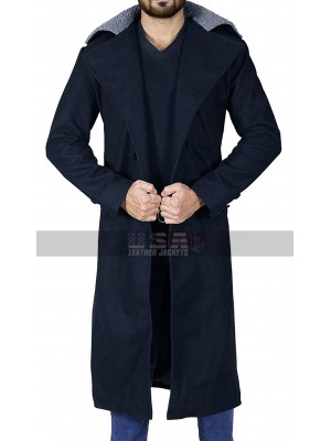 Taboo James Keziah Delaney Tom Hardy Fur Collar Wool Coat