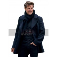 Mission Impossible 6 Fallout (Ethan Hunt) Tom Cruise Navy Blue Pea Wool Coat