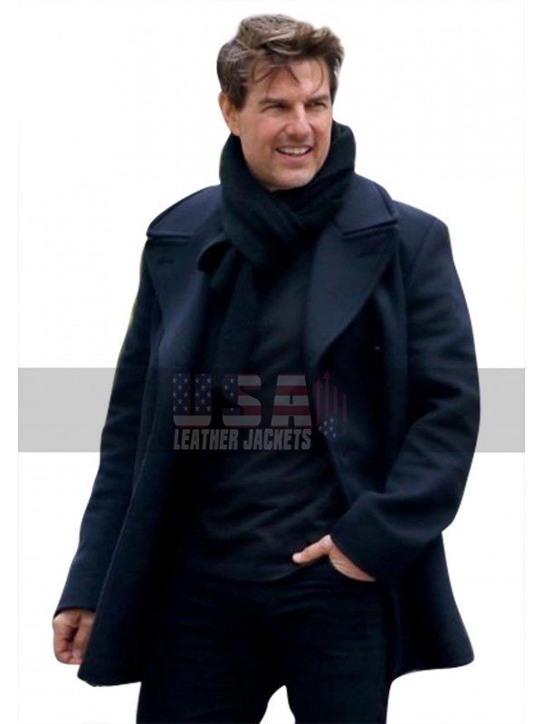 Preferred Mission Impossible 6 Fallout (Ethan Hunt) Tom Cruise Navy Blue Pea  GL49
