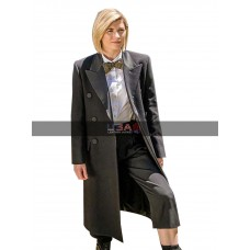 13th Doctor Jodie Whittaker Gray Wool Coat