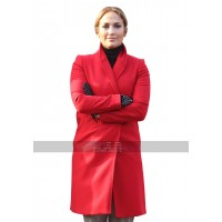 Jennifer Lopez Second Act Movie 2018 Maya Red Wool Trench Coat