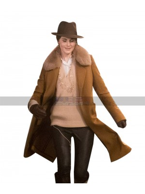 The Gentlemen Costume Michelle Dockery Brown Wool Trench Coat