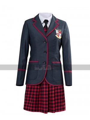 Umbrella Academy Costume Women Cosplay School Uniform Grey Cotton Coat