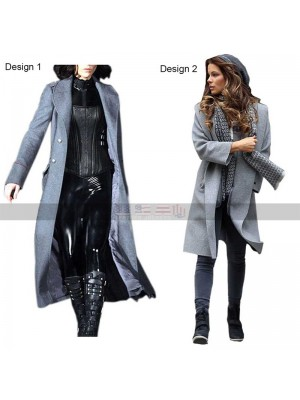 Underworld Awakening Selene Grey Wool Coat | Blood Wars Jacket