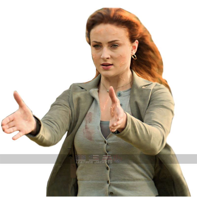 X-Men Dark Phoenix Sophie Turner Jean Grey Cotton Coat