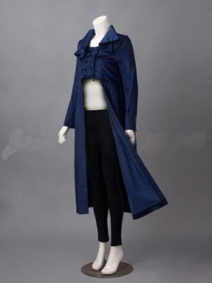 Pride and Prejudice and Zombies Elizabeth Bennet Costume Velvet Coat